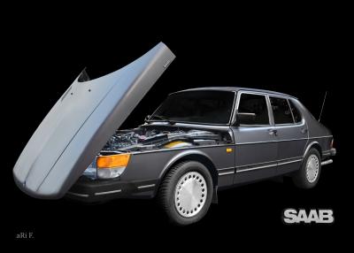 Saab 900 Limousine Poster Sweden Steilschnauzer
