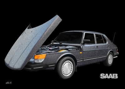 Saab 900 Limousine Steilschnauzer Poster