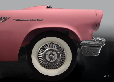 Ford Thunderbird Poster in original color side view