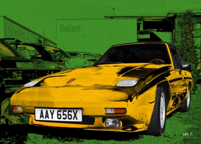 Reliant Scimitar SS1 technische Daten Poster Art Car by aRi F.