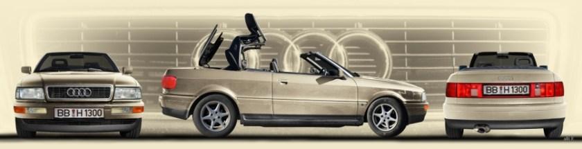 Audi 80 Cabriolet Heck-, Front und Seitenansicht