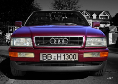 Audi 80 Cabriolet Frontansicht in Originalfarbe Car shooting by aRi F.