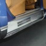 NSU Ro 80 Türeinstiegsblech hinten geriffelt mit Lüftungsschlitzen aus Aluminium