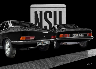 NSU Ro 80 Poster in black
