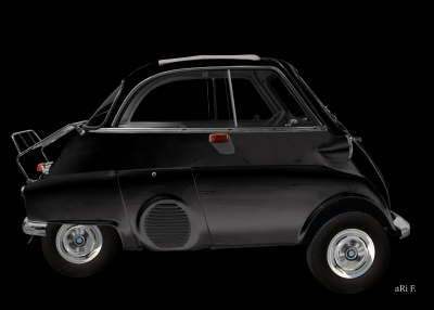 BMW Isetta 250 Poster in black by aRi F.