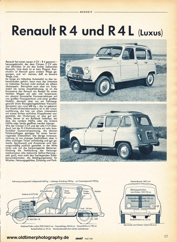 Renault 4 mot Heft 9 1961 Seite 17