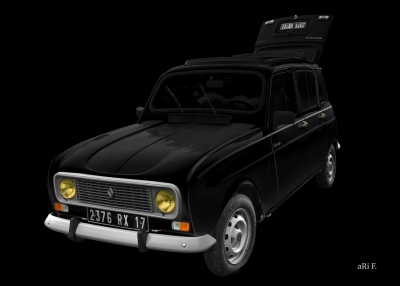 Renault R4 in black minimal