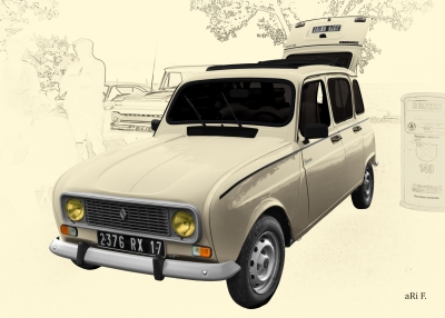 Renault 4 in antique art