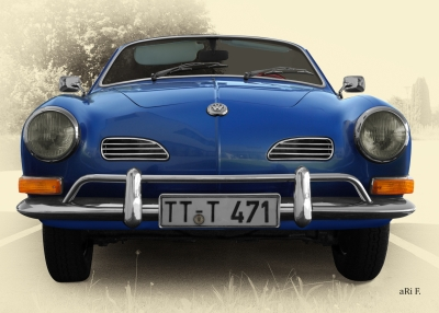 VW Karmann-Ghia-Typ 14 in Antique blue
