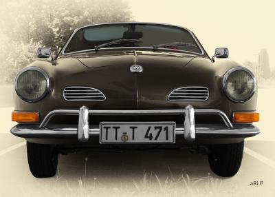 VW Karmann-Ghia Typ 14 Poster in antique