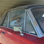 Plymouth Valiant Convertible Seitenansicht Detail Persenning