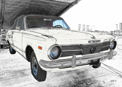 Plymouth Valiant Signet in black & white