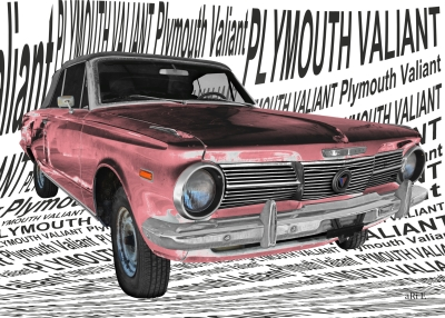 Plymouth Valiant Signet art car Autofotografie by aRi F.