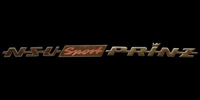 Logo NSU Sport Prinz auf Motorhaube hinten