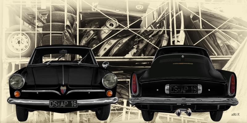 NSU Sport Prinz (1959-1962) in Front- und Heckansicht