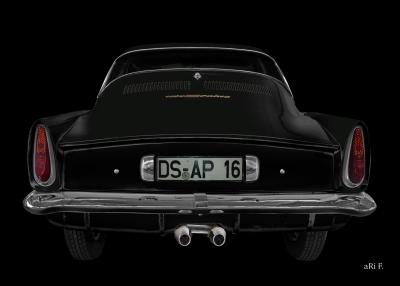 NSU Sport Prinz in black & black minimal art by aRi F.