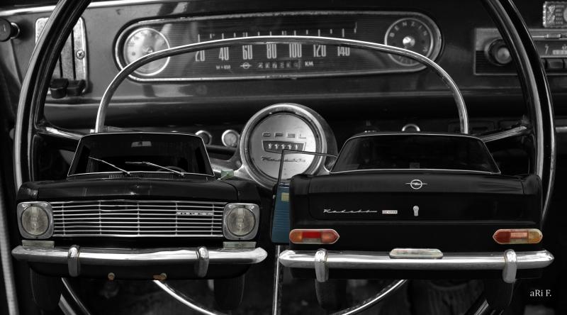 Opel Kadett A Coupé Doppelansicht mit Interieur