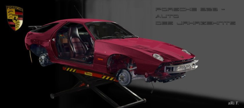 Porsche 928 GT art car aRi F. look & sale
