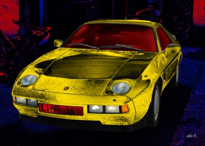 Porsche 928 S art car by aRi F.