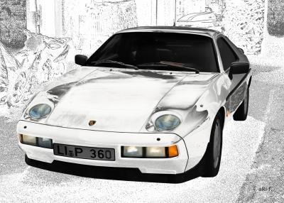 Porsche 928 S in graphite
