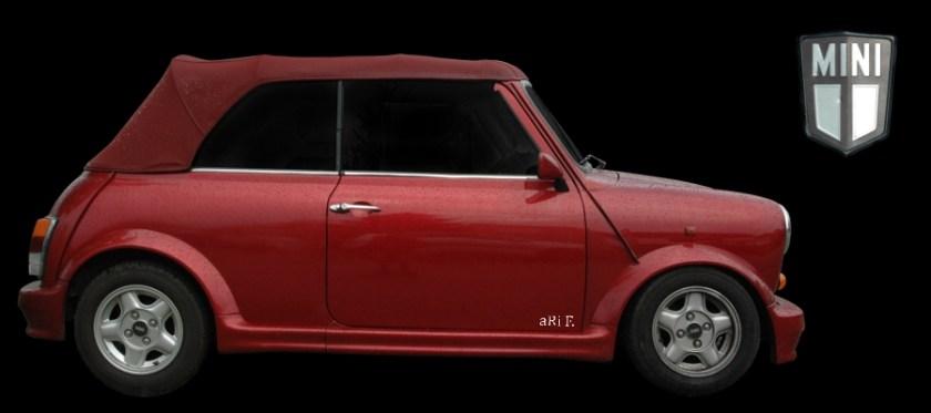 Mini Cabriolet 1275cc Poster (1993-1996) im Bodykit (Originalfarbe)