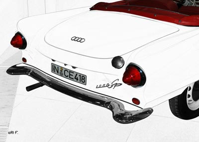 Auto Union 1000 Sp Roadster in graphit