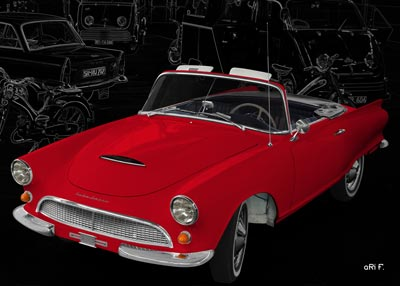 Auto Union 1000 Sp Roadster in red
