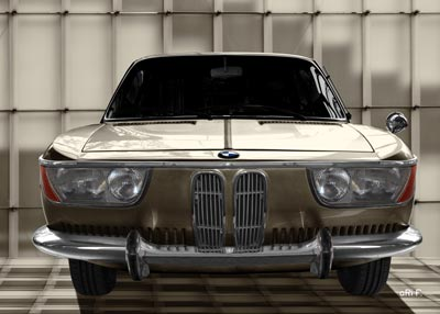 BMW 2000 CS in yellowed front view