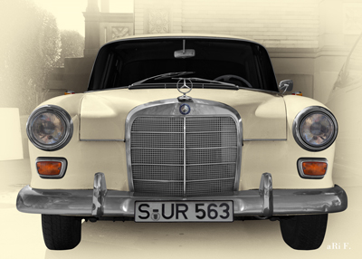 Poster Mercedes-Benz W 110 Poster in antique