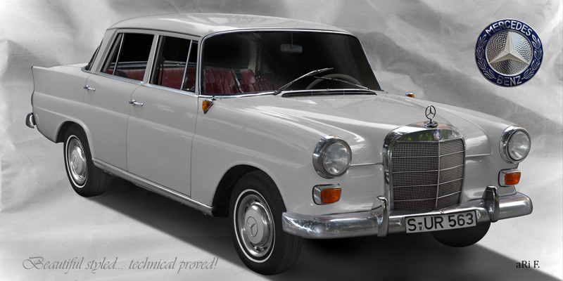 Mercedes-Benz W 110 kleine Heckflosse in Originalfarbe