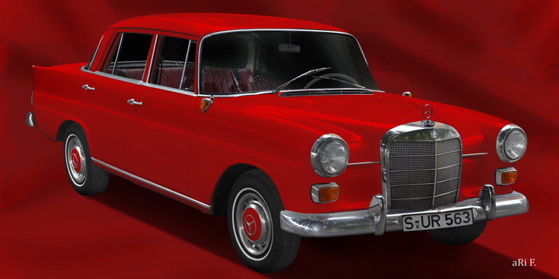Poster Mercedes-Benz W 110 in red color
