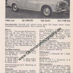 Peugeot 403 Limousine technische Daten