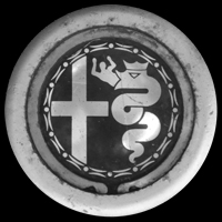 Logo Alfa Romeo auf Felge