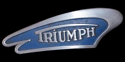 Logo Triumph Knirps Moped auf vorderem Kotflügel 1953-1957