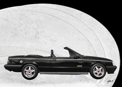 Opel Monza Cabrio in black & graphit