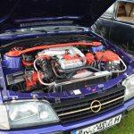 Opel Monza Cabriolet Motorraum 3-Liter 24V und 204 PS (150 kW) Motorcode C30SE