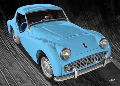 Triumph TR3A Poster in original color