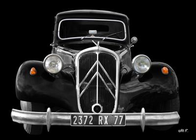 Citroen Traction Avant Gangsterauto by aRi F.