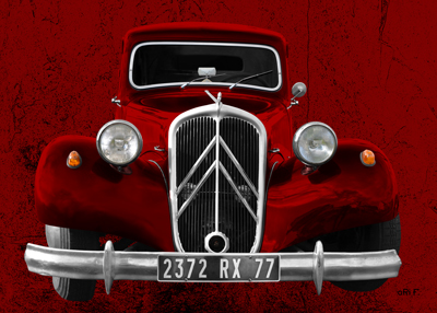 Citroen Traction Avant Poster new created by aRi F.