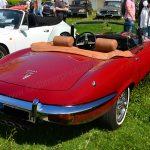 Jaguar E-Type Series III Roadster bei einem Oldtimertreffen am Bodensee