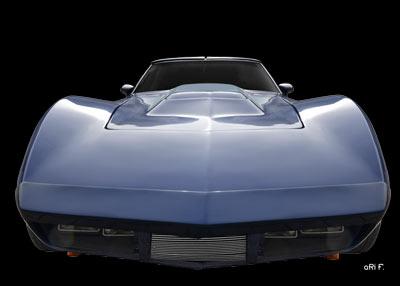Eckler Corvette Poster front view in original color
