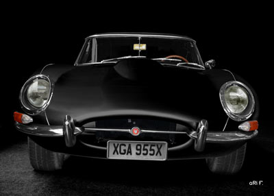 Jaguar E-Type Serie 1 in front view