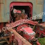 OM Tigrotto mit Teilansicht auf Motor und Getriebeeinheit