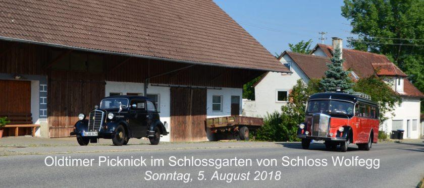 2018 - Oldtimer Picknick im Schlossgarten von Wolfegg