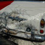 Volvo Amazon Scheunenfund Rückseite mit noch sichtbaren Klebstreifresten...