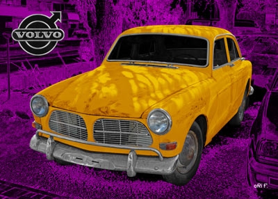 Volvo Amazon in Pop-art