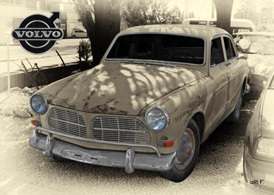 Volvo Amazon in antique colors