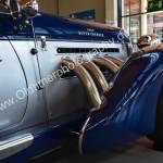 1936 Auburn 852 Supercharged Speedster Seitenansicht mit 4 Ansaugrohren für den Kompressor