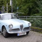 Alfa Romeo Giulietta Sprint 1300 bei der Einfahrt zur 5. Kressbronn Classics