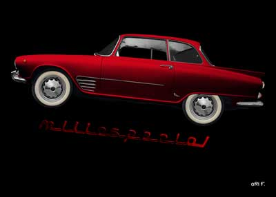 Auto Union 1000 SE millespecial Poster in red edition